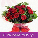 Dozen red roses prepared by Hermitage florist