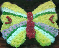 Butterfly-shaped wreath