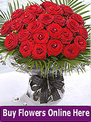 Two dozen red roses by Esker florist